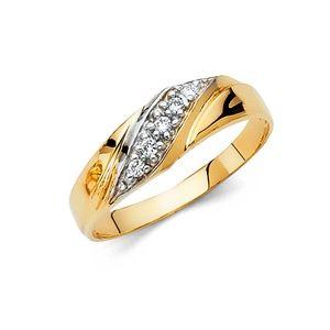 14k Yellow Gold 6 mm Round Men's Wedding band Ring